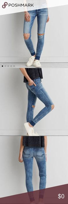 ISO American Eagle jeggings size 0 Short *listing not for sale. Just looking for :) American Eagle Outfitters Jeans Skinny