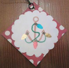 Anchor Christmas tag