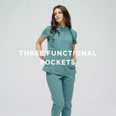 A lot of NEW and a lot of attitude -- our Sucre Moto Scrub Top in NEW Hydro Green features moto-inspired pintuck details and three supremely functional pockets. Cute Nursing Scrubs, Cute Scrubs, Nursing Clothes, Scrubs Outfit, Scrubs Uniform, Doctor Scrubs, Stylish Scrubs, Green Scrubs, Medical Uniforms