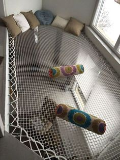 rope hammock space for reading and relaxing - Raumteiler Dream Rooms, Dream Bedroom, Kids Bedroom, Bedroom Decor, Bedroom Ideas, Childrens Bedroom, Bedroom Ceiling, Deco Design, Cool Rooms