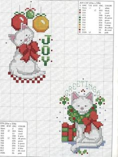 Cross stitch kitties