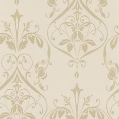 A warm and enticing damask print with stunning art nouveau details. This stylish wallpaper transitions beautifully into decor.