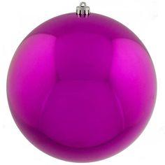 cerise pink baubles shiny shatterproof single 300mm