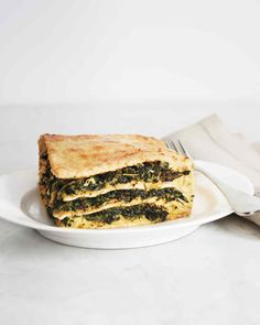 This unleavened twist on lasagna is a great way to use leftover matzo after the seder. Substitute layers of matzo for the noodles, then fill them with a mixture of spinach and ricotta cheese. Look for the kosher-for-Passover signifier on all the other ingredients.