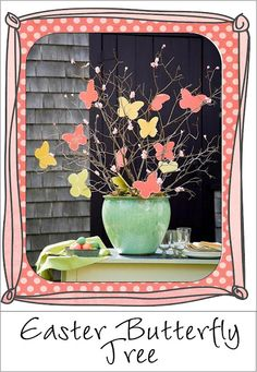 Easter Butterfly Tree-So Easy to make and yet so pretty-See more