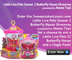 "Starting today, leave us a comment below answering the question ""Why would you like to win a Little Live Pets Season 2 Butterfly House?"" and you could win your very own Little Live Pets Season 2 Butterfly House AND Butterfly Starter Pack!"