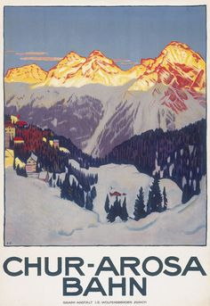 Items similar to Arosa Elecktr Bahn Chur Arosa Switzerland Vintage Travel Poster - Poster Paper, Sticker or Canvas Print / Gift Idea / Christmas Gift on Etsy Vintage Ski Posters, Retro Poster, Evian Les Bains, Fürstentum Liechtenstein, Swiss Travel, Travel Ad, Travel Trip, Tourism Poster, Railway Posters