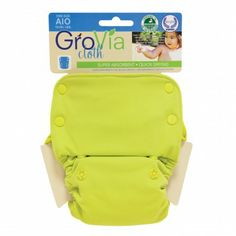Citrus GroVia® Cloth All-In-Ones have a super absorbent, organic cotton inner with a soft layer of water resistant TPU outer. No stuffing, no doublers. Simply snap on baby and go. It's that easy!