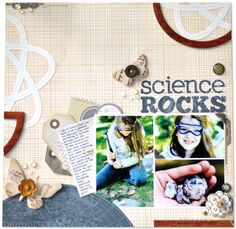 So Inspired by this recent layout by Amy Heller....my fam. being equally scientifically obsessed as her's seems to be.