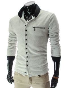 Two Tone Button Up Cardigan