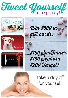 Tweet Yourself to a spa day! Ends 4/21/15 on DollarStoreCrafts