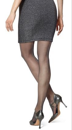 Hue Metallic Backseam Tights - See more tights at www.fashion-tights.net ‪#tights #pantyhose #hosiery #nylons #fashion #legs‬ #legwear #advertising #influencer #collant