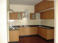 Beautiful Beige Modular Kitchen Concept