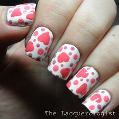 The Lacquerologist: Valentine's Day Nail Art: Cartoony Hearts Featuring Milani!