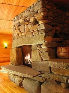 I love this stone hearth