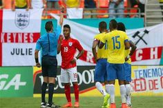 Wayne Rooney and Rickie Lambert were on target for an experimental England side in a 2-2 friendly draw with Ecuador which turned sour with two late red cards.