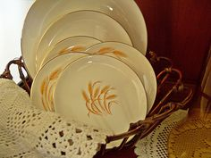 Wheat dishes from the old Duz detergent..