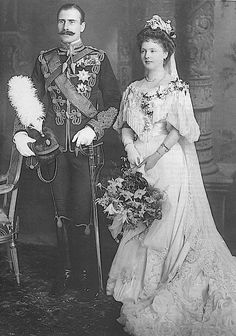 Princess Alice of Albany (daughter of Prince Leopold, Duke of Albany, fourth son of Queen Victoria) to Prince Alexander of Teck (later Lord Alexander Cambridge, 1st Earl of Athlone; great-grandson of George III), February 10, 1904.