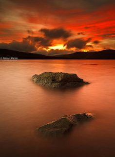 Raining Fire -Clatteringshaws Loch in the Galloway Forest - Scotland