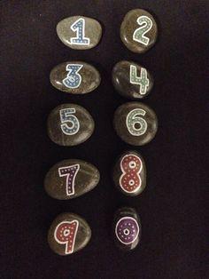 Study stones numbers SNS DESIGNS