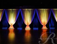 pipe and drape musicians stage | Specialist draping service for conference and corporate hospitality ...