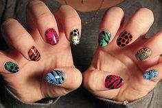 Mixed animal print nail art by Boom Nails! BOOM!