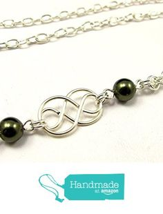 Women's Fashion ID Badge Lanyard Necklace with Single Celtic Knots and Pearls on a Silver Chain (breakaway clasp) from By Brenda Elaine Jewelry https://www.amazon.com/dp/B018ZW9PVY/ref=hnd_sw_r_pi_dp_gySSybGY24TWF #handmadeatamazon