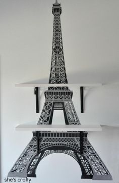 She's Crafty used our Eiffel Tower wall decal to decorate her daughter's Paris-themed room. Love it! ^nk