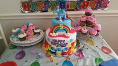 Amy's Crazy Cakes - My Little Pony Rainbow Dash cake and cake topper