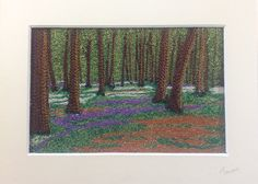 Bluebell Woods by textile artist Tamara Russell - karhina.com. Free machine embroidery