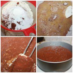 Nydelig, saftig enkel å lage sjokoladekake | Spiselise Marshmallow Fondant, Food And Drink, Ice Cream, Pudding, Cookies, Baking, Desserts, No Churn Ice Cream, Crack Crackers