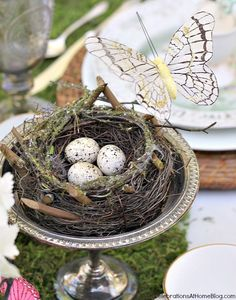 Easter tabletop ideas - centerpiece nest
