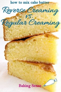 Cake Batter Mixing Methods - Reverse Creaming How you mix a cake batter can make a big difference. Learn about the reverse creaming technique and why you might change the way you've been mixing your cake batter. Pound Cake Recipes, Frosting Recipes, Dessert Recipes, Baking Recipes, Desserts, Creative Cake Decorating, Creative Cakes, Original Pound Cake Recipe, Baking For Beginners