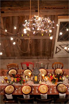 fall table decor Design by Red Heels Events Photo by Hetler Photography