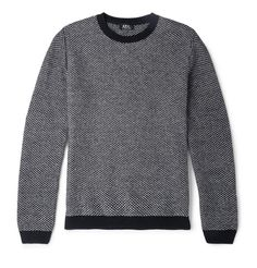 A.P.C. Slim-Fit Two-Tone Wool Sweater | MR PORTER
