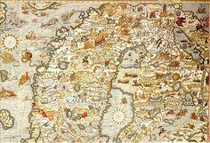 Carta Marina Venice 1539. Древние карты мира в высоком разрешении - Старинные карты