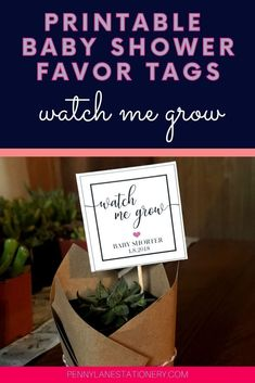 These are THE most popular DIY baby shower favors hands down! And so cute too! Your guests will LOVE receiving these gifts from you at your baby shower. These printable succulent favor tags are super budget friendly (and easy to customize too). The best part is they work for girls and boys. So you can plan away even before you know.