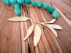 sage and green agate necklace