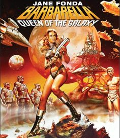 Jane Fonda on Barbarella movie poster