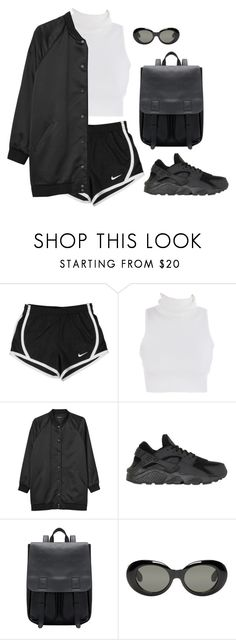 """Untitled #6447"" by heynathalie ❤ liked on Polyvore featuring NIKE, Monki and Acne Studios"