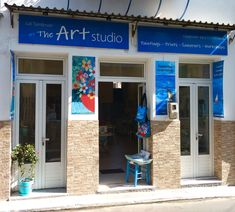 My Art Studio in the village of Charakopio in the south Peloponnese, Greece. We're about an hour south of Kalamata on the main road to Koroni💙 Click the photo on the left to check it out on my website😎 The Beautiful South, My Art Studio, Greece, Workshop, My Arts, Website, Gallery, Check, Outdoor Decor