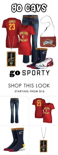 """""""Go sporty go cavs"""" by im-karla-with-a-k ❤ liked on Polyvore featuring adidas and Stance"""