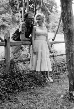 Marilyn and Arthur Miller at Roxbury. Photo by Sam Shaw, 1957.