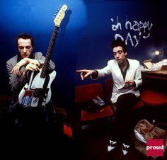 Joe Strummer and Mick Jones of The Clash