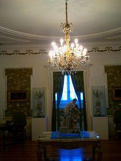 Chandelier at Museum of the City, Pazo (palace) Quiñones de León, Vigo