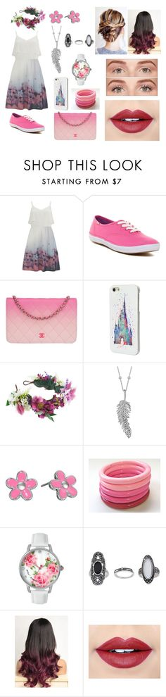 """""""Melany"""" by eliana-zennaro on Polyvore featuring moda, Vero Moda, Keds, Chanel, Disney, Rock 'N Rose, Penny Preville, Marc by Marc Jacobs, Betsey Johnson e Topshop"""