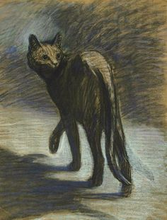 Movement... Théophile-Alexandre Steinlen Prowling Cat Late 19th - early 20th century