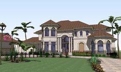 Elevation of Mediterranean   House Plan 65885