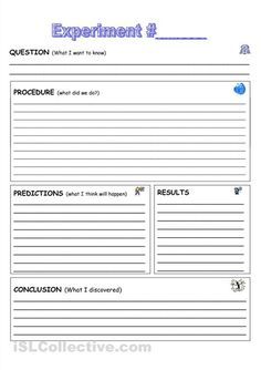 worksheets primary students Lab report template / 5th grade science ...