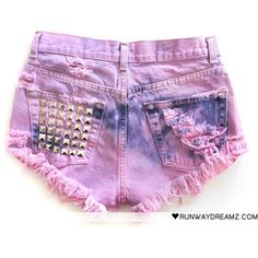 tye dye pink studded shorts!, they need a little bit more material on the ass part;) but otherwise cute